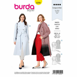 Patron Burda 6290 Manteau Cintre