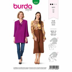 Patron Burda 6292 Tunique A Col V