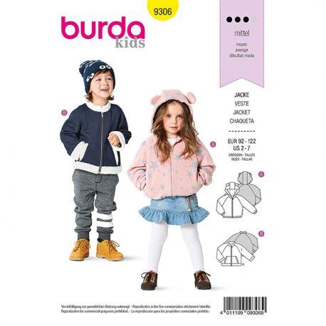 Patron Burda 9306 Blouson à Capuche
