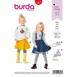 Patron Burda 9307 Jupe
