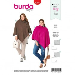 Patron Burda 6256 Cape Rectangulaire