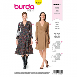 Patron Burda 6282 Robe Portefeuille