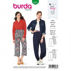Patron Burda 6283 Pantalon Bouffant