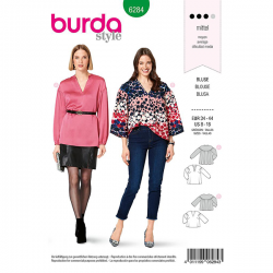 Patron Burda 6284 Blouse
