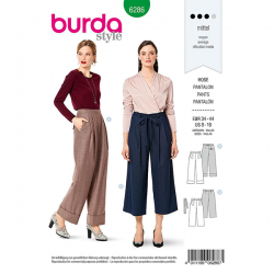 Patron Burda 6286 Pantalon Ample