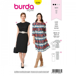 Patron Burda 6288 Robe Ample