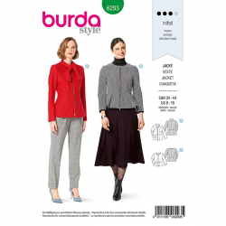Patron Burda 6293 Veste A Basque