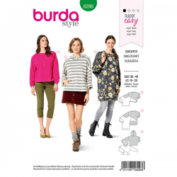 Patron Burda 6296 Sweat-shirt