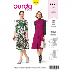 Patron Burda 6297 Robe