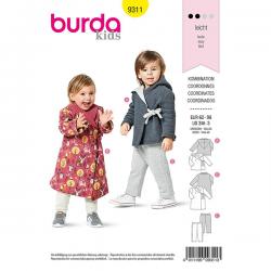 Patron Burda 9311 Veste à Capuche et Pantalon