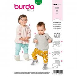 Patron Burda 9312 Tee-shirt Et Pantalon Elastique