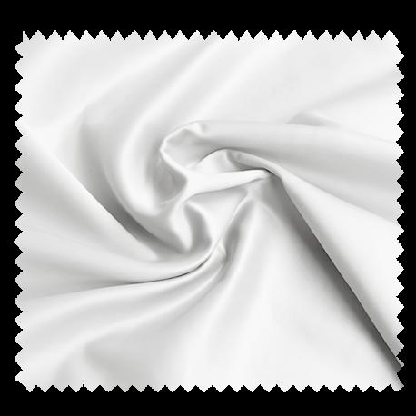 Tissu Champs Elysees Satin Uni Blanc