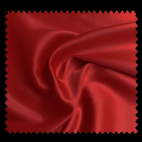 Tissu Champs Elysees Satin Uni Rouge