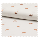 Tissu Popeline Coton Imprime Cygnes