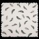 Tissu Popeline Coton Imprime Plume