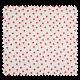 Tissu Popeline Coton Imprime Pomme Fd Blanc