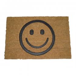 Paillasson Gravé Smiley Noir