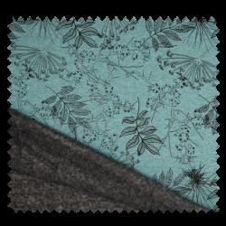 Tissu Polaire Imprimé Fleur Menthe