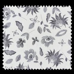 Tissu imprimé Black and White Fleurs