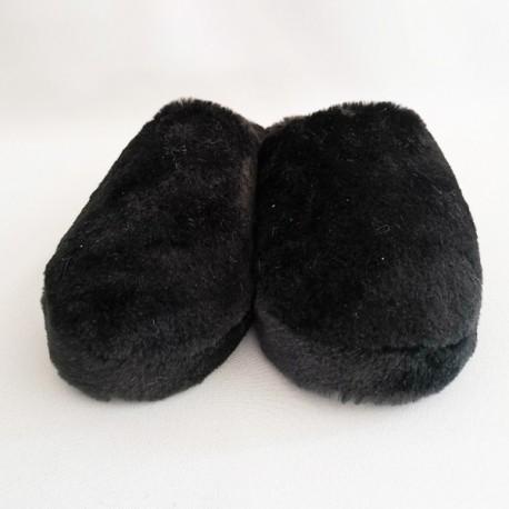 Pantoufle en fausse fourrure - Coloris Noir