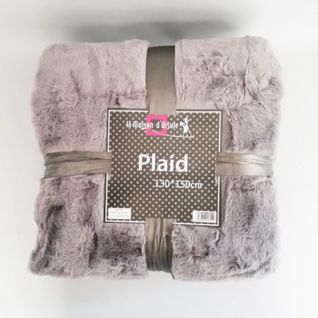 Plaid Romeo Gris 130x150 cm