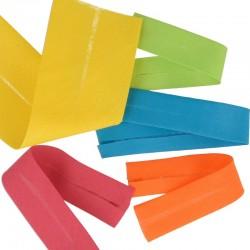 Biais replie toutextile 94 couleurs et 3 tailles au choix