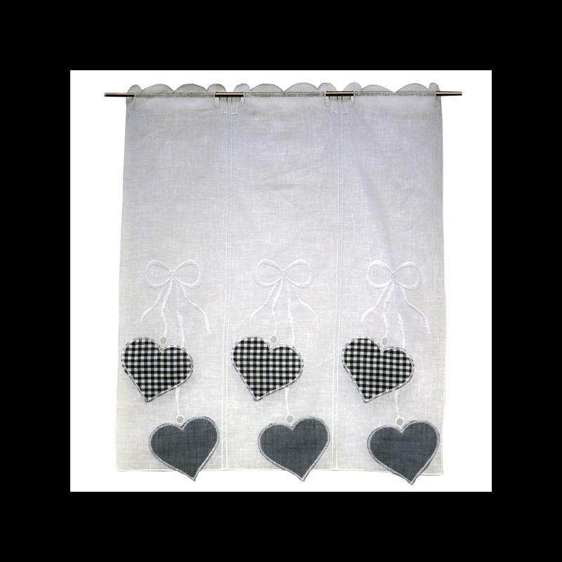 brise bise coeur gris 45 cm tissus des ursules. Black Bedroom Furniture Sets. Home Design Ideas