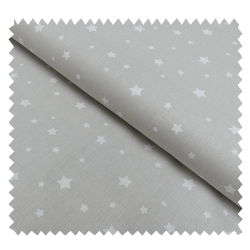Tissu Zetoile Imprimé Coloris Lin et blanc