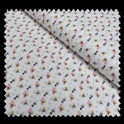 Tissu Fimoa Imprimé Rose Poudre et lin