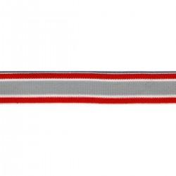 Élastique rayures 18 mm 2 coloris