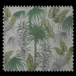 Tissu Jungle Lin Vert