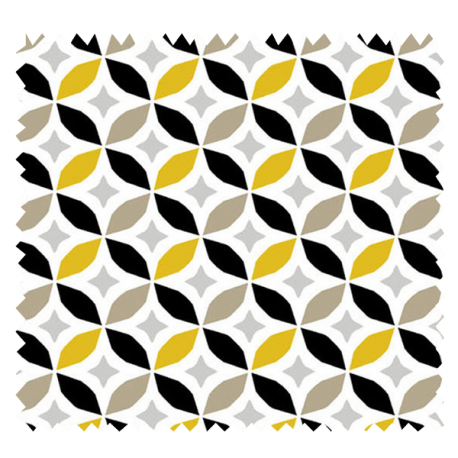 Tissu Imprimé Cercle Jaune