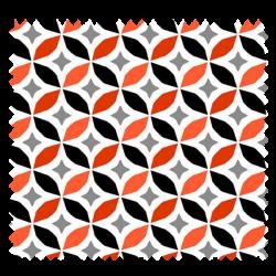 Tissu Imprimé Cercle Piment