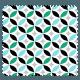 Tissu Imprimé Cercle Mint