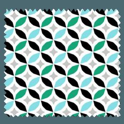 Tissu Enduit Cercle Mint