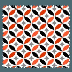 Tissu Enduit Cercle Piment