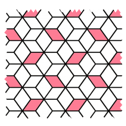 Tissu Imprimé Cube Fraise