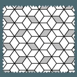 Tissu Imprimé Cube Noir