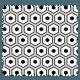 Tissu Imprimé Polygone Noir