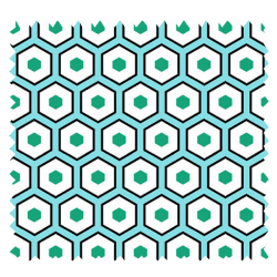 Tissu Imprimé Polygone Mint