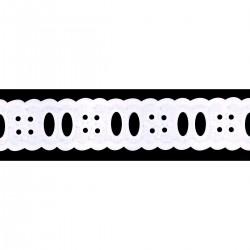 Broderie coton entre deux