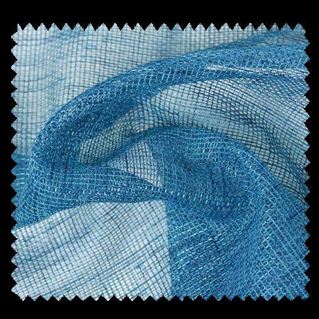 Tissu Voilage Etamine Beluga Uni Bleu Paon
