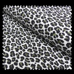 Tissu Jersey Coton Imprime Leopard Ecru/kaki
