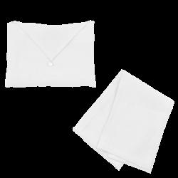 Torchon Lin Lavé Blanc et son enveloppe