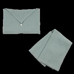 Torchon Lin Lavé Lichen et son enveloppe