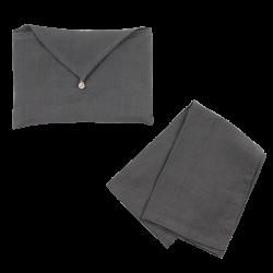 Torchon Lin Lavé Metal et son enveloppe