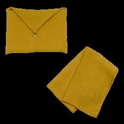 Torchon Lin Lavé Peanut et son enveloppe