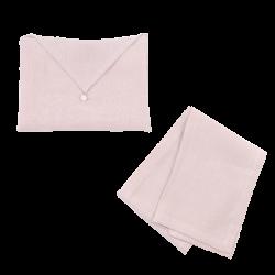 Torchon Lin Lavé Rose et son enveloppe