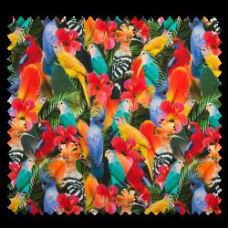 Tissu Digital Perroquet