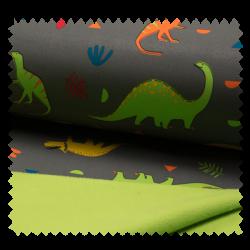 Tissu Soft Shell Dinosaure Gris